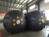 Ribbed type pneumatic rubber fender
