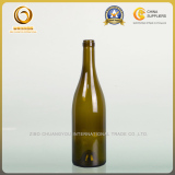 Cork top 750ml burgundy glass bottle