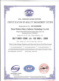 ISO9001 2008 CERTIFICATE