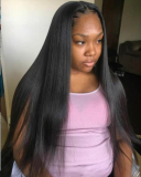 Grade 8A virgin hair weft straight 20inch client share