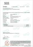 Rifo thermal transfer synthetic paper FDA report by SGS