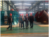 Italy customers came to our company and visits