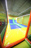 Trampoline bed for recreation center