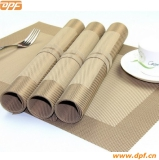 DPF 100% PVC table mat used for hotel or home