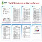 YOYI Brand 3d printer filaments test report show