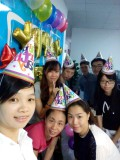 Our team birthday party