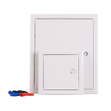 Steel access panel/door with white powder coated