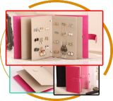 Jewels display leather book