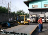 Engineer install 3x12m 60ton truck scale in Philippine