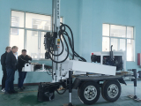 Our Customers In South Africa Inspected HF150T Water Well Drilling Machine In October 23th,2017