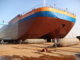 Aorunda airbag used for ship launching