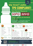Hangsen TPD compliant 50PG/50VG E-liquid