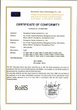 LED Light Bar G1 series RoHS certificate