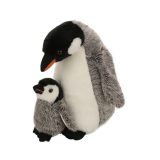 Plush penguin mother and son toy