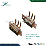 Machine Pin D-SUB Right angle type 3P 3W3 male and female connector
