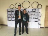 Tony with Filipino customer