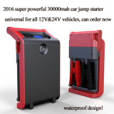 New portable car/truck jump starter power pack for all vehicles
