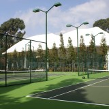 Chain link fence for multi-courts