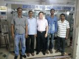 wanjin owner visiting 15000BPH WATER LINE IN INDIA