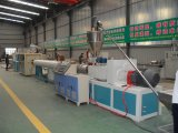 Our newly designed and manufactured PVC pipe extrusion line is tested today
