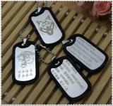 Factory Wholesale cheap silicone dog tag in stock
