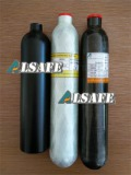 Small carbon fiber wrapped gas cylinder
