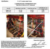 "Test Report Of 5*6′7"" Double Ladder Frame"