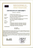 LED Work Light RoHS certificate