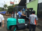 Our custmer from Malaysia was contesting the forklift.