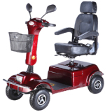 Folding 4 wheel electric scooter