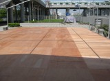 Wooden floor for expo tent