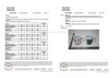 SGS Report of Porcelain Mugs