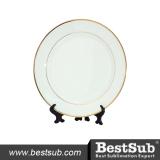 """BestSub 7.5"""" Rim Ceramic Sublimation Plate"""