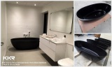 KKR WashBasin & Bathtubs - Solid Surface Black