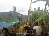HFDX-4 Hydraulic Core Drilling Rig In Burundi Working Site