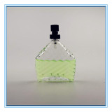Elegant Shape Transparent Glass Perfume Bottle with Sprayer (CKGPR130508)