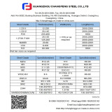 CHANGFENT STEEL NEW STOCK LIST