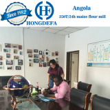 Angola client visiting