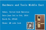 Welcome to our booth in Hardware and Tools Middle East