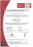 Xinhuixiong Hardwaqre passed ISO9001:2015 BV Quality Management System Audit