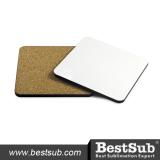 BestSub Square Mug Coaster with Cork