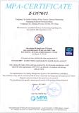 We got MPA Certificate