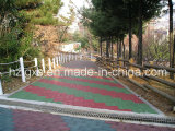 EN1177 Approved EPDM Rubber Tiles for Park Pathway (Korea Customer)