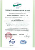 ISO 14001 for Sanjia Turnout Company