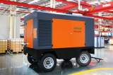 denair four wheels diesel screw air compressor
