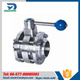 Sanitary Stainless Steel Three Piece Butterfly valve