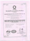 ISO 19001-2008 Certificate