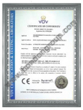 Certification of European Conformity