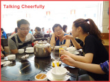 TALKING CHEERFULLY