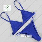 2017 Newest European Sexy Swimwear Plain Fashion Ladies Bikini Swimwear